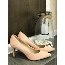 Замшевые пудровые туфли Karl Lagerfeld Paris