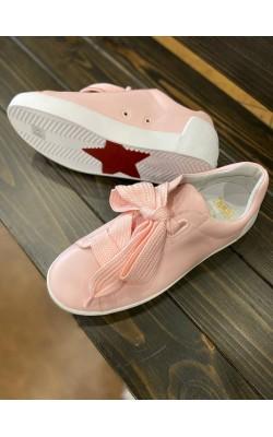 """Светло-розовые кожаные кеды """"AS-NINA"""" с широкими шнурками Ash"""
