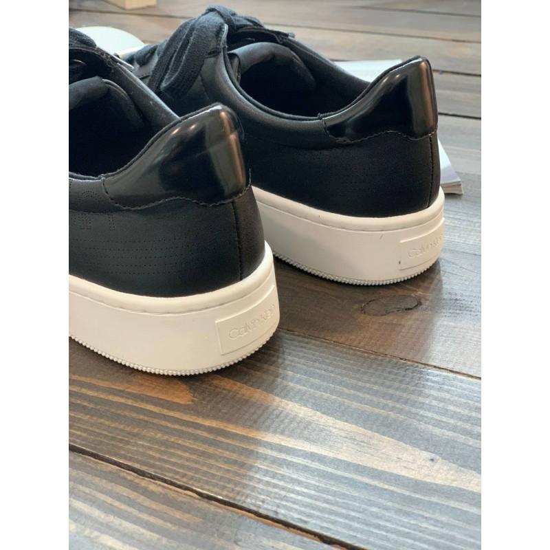 Кеды Calvin Klein черные кожаные