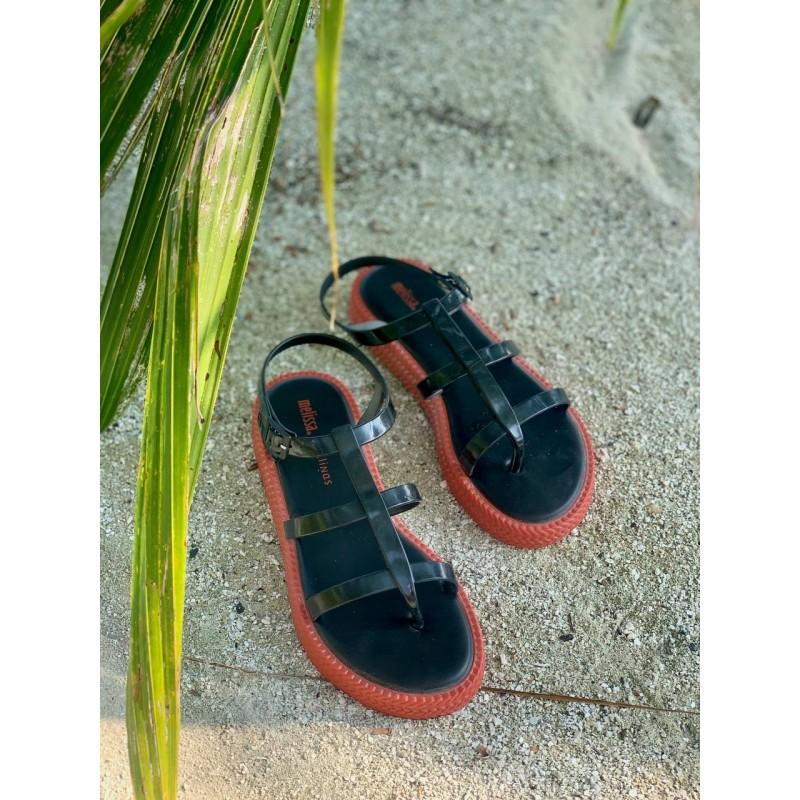 """Босоножки Melissa + Salinas черно-оранжевые """"Caribe Verao platform"""""""