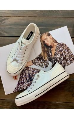 """Кеды DKNY белые кожаные """"Sibz"""""""
