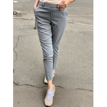 Светло-серые укороченые брюки от Uniqlo