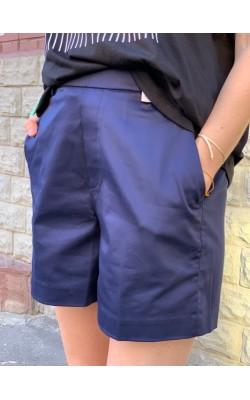 Шорты Uniqlo темно-синие костюмные