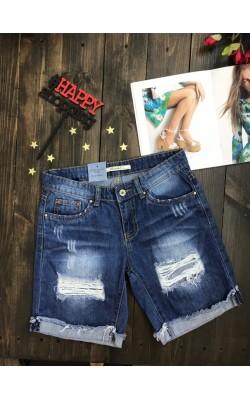 Рваные джинсовые шорты Toxik3