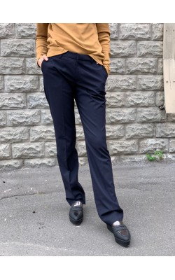 Женские синие брюки со стрелками от Uniqlo