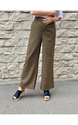 Женские широкие брюки в клетку от Uniqlo