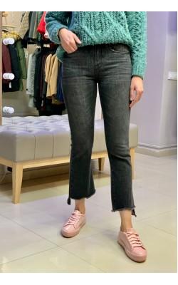Черные укороченные джинсы с высокой посадкой Abercrombie & Fitch