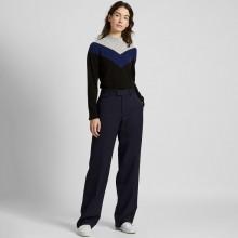 Темно-синие двухслойные брюки от Uniqlo (Ines de la Fressange)