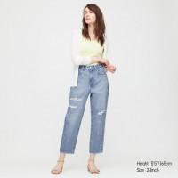 Зауженные объёмные джинсы Uniqlo