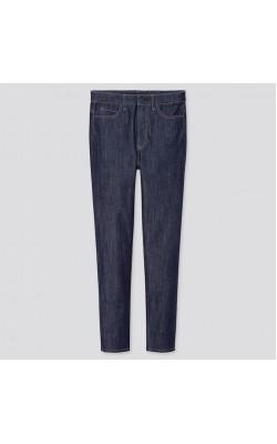 Темно-синие стрейчевые джинсы с высокой посадкой Uniqlo