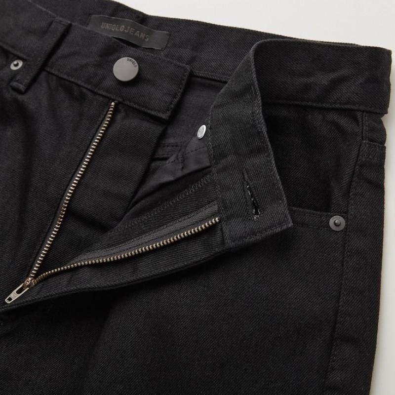 Джинсы от Uniqlo черные прямые стрейчевые