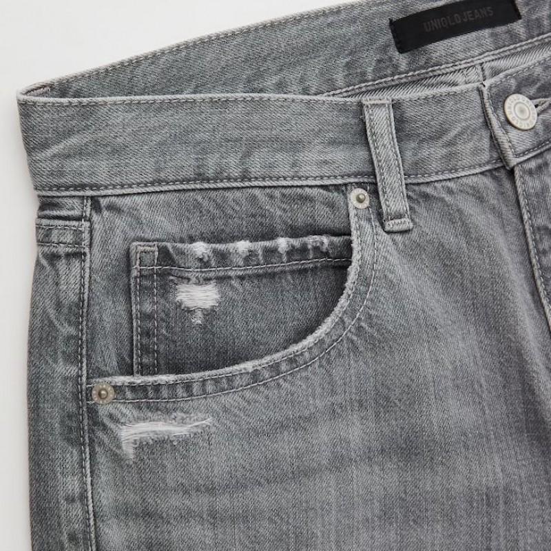 Джинсы укороченные Uniqlo Jeans серые