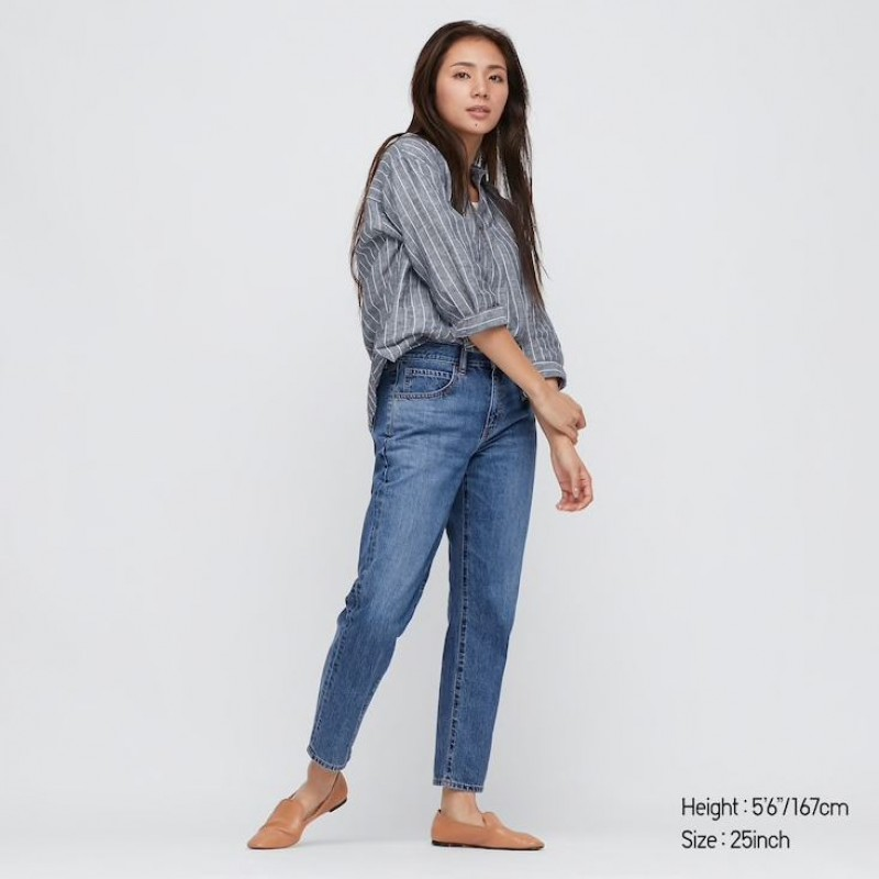 Джинсы укороченные Uniqlo Jeans синие
