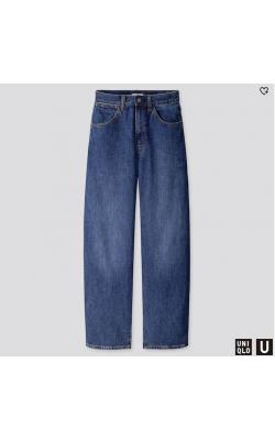 Широкие джинсы с высокой талией Uniqlo