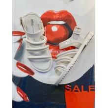 Белые босоножки Melissa + Vitorino Campos