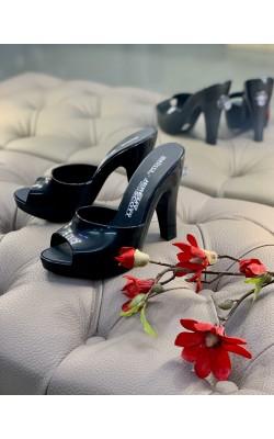 Черные мюли на каблуке Melissa + Jeremy Scott