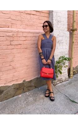 Синее платье  Abercrombie & Fitch
