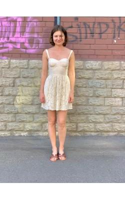 Ажурное мини платье Abercrombie & Fitch