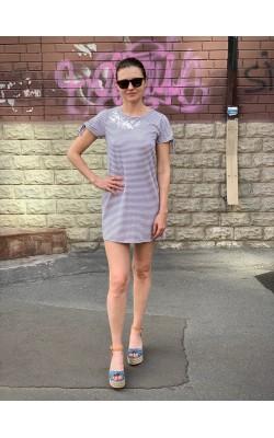Серое  платье в полоску Abercrombie & Fitch