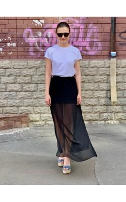 Черная макси юбка H&M