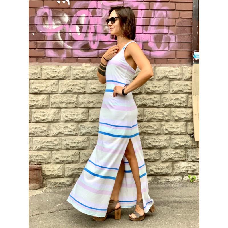 Макси платье в полоску Abercrombie&Fitch