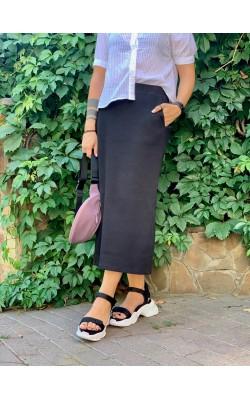 Черная юбка с карманами Uniqlo
