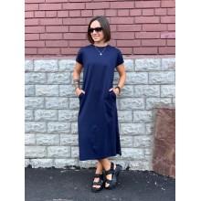 Темно-синее платье длины миди Uniqlo