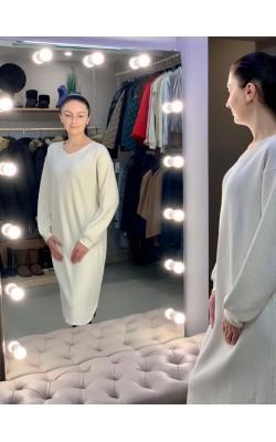 Светлое вафельное платье  от Uniqlo