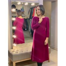 Шерстяное платье цвета фуксии Uniqlo