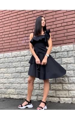 Черное хлопковое платье Kendall+Kylie
