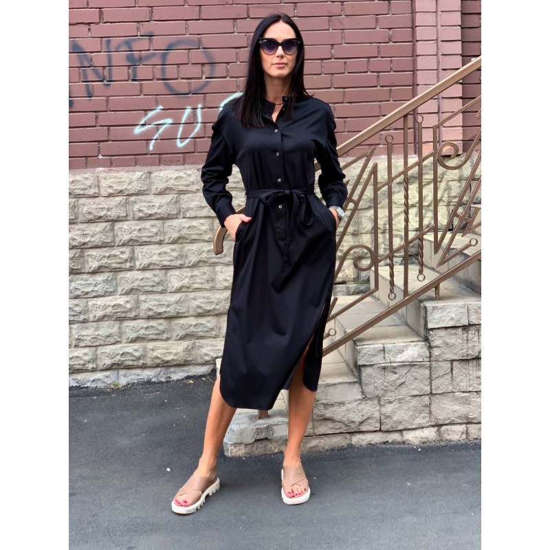 Платье Uniqlo черное миди