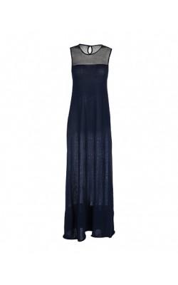 Макси платье Tortona 21 темно-синее облегающее