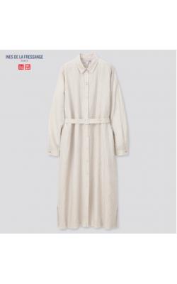 Платье-рубашка в полоску Uniqlo+Ines De La Fressange