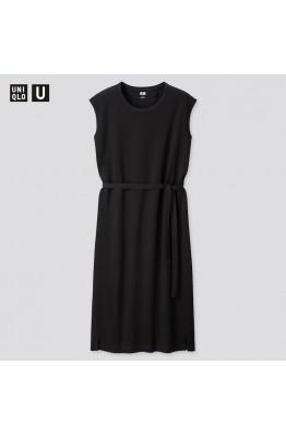 Черное хлопковое платье Uniqlo