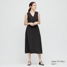 Черное платье макси Uniqlo