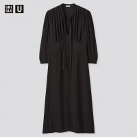 Струящееся черное платье Uniqlo