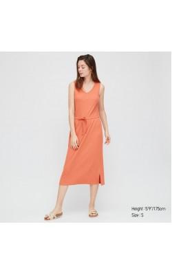 Оранжевое платье Uniqlo
