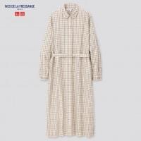 Платье-рубашка в крупную клетку от дизайнерской коллаборации Uniqlo+Ines De La Fressange