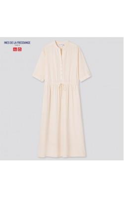 Платье Uniqlo+Ines De La Fressange светлое из вискозы