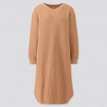 Бежевое миди платье  Uniqlo