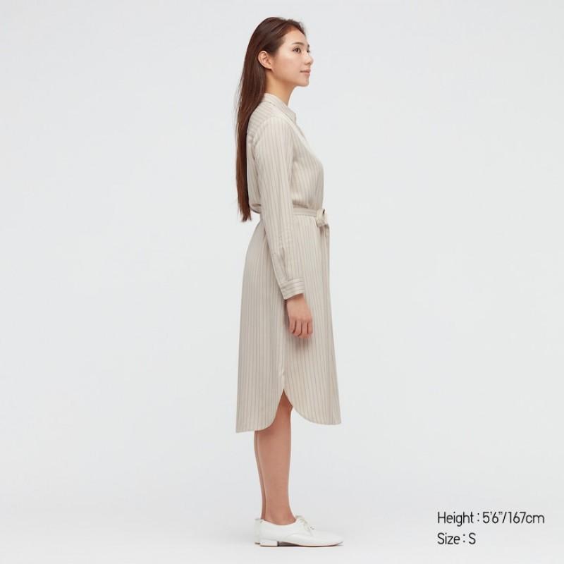 Струящиеся платье-рубашка Uniqlo