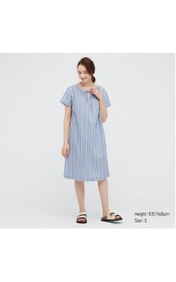Платье Uniqlo синее в полоску