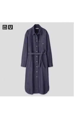 Платье-рубашка Uniqlo джинсовое