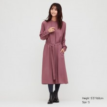 Платье рубашка Uniqlo в пурпурном цвете
