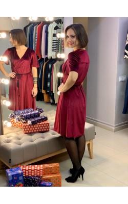 Велюровое платье JCL