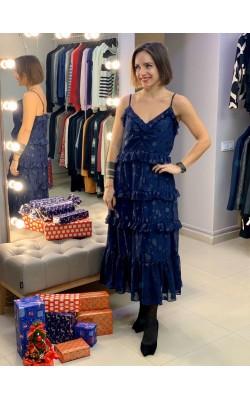 Синее платье Michael Kors