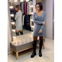 Cерое платье в полоску Abercrombie & Fitch