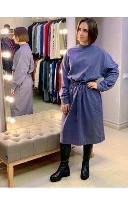 Синее платье с карманами Uniqlo