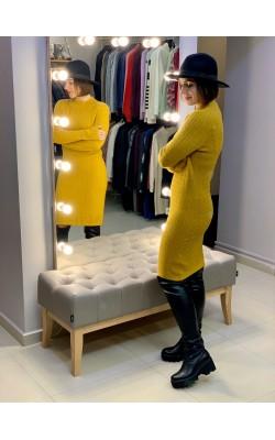 Горчичное платье Abercrombie & Fitch
