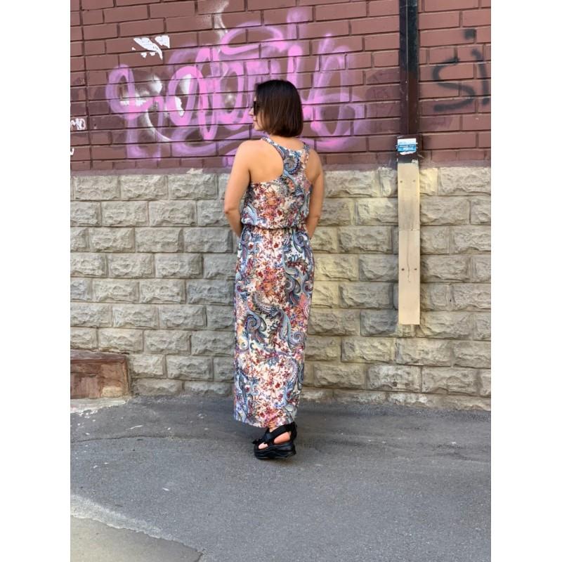 Разноцветное макси платье BooHoo